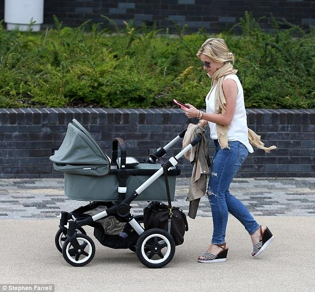 Helen Skelton & new babe Ernie with Firenze in tow