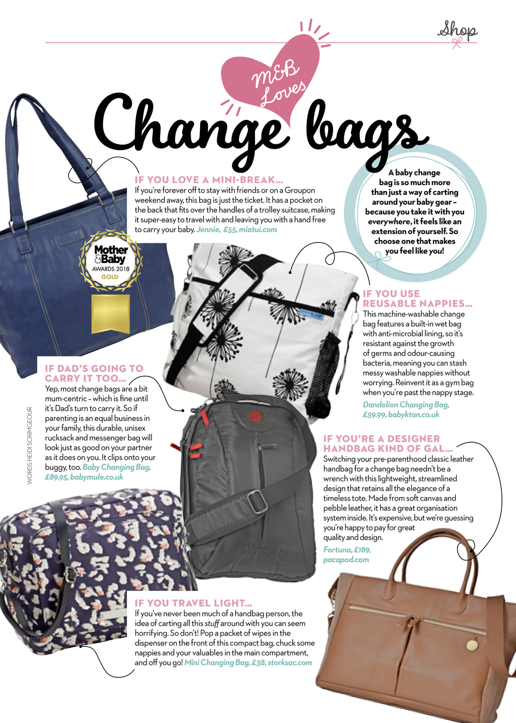 Mother & Baby magazine loves our Fortuna