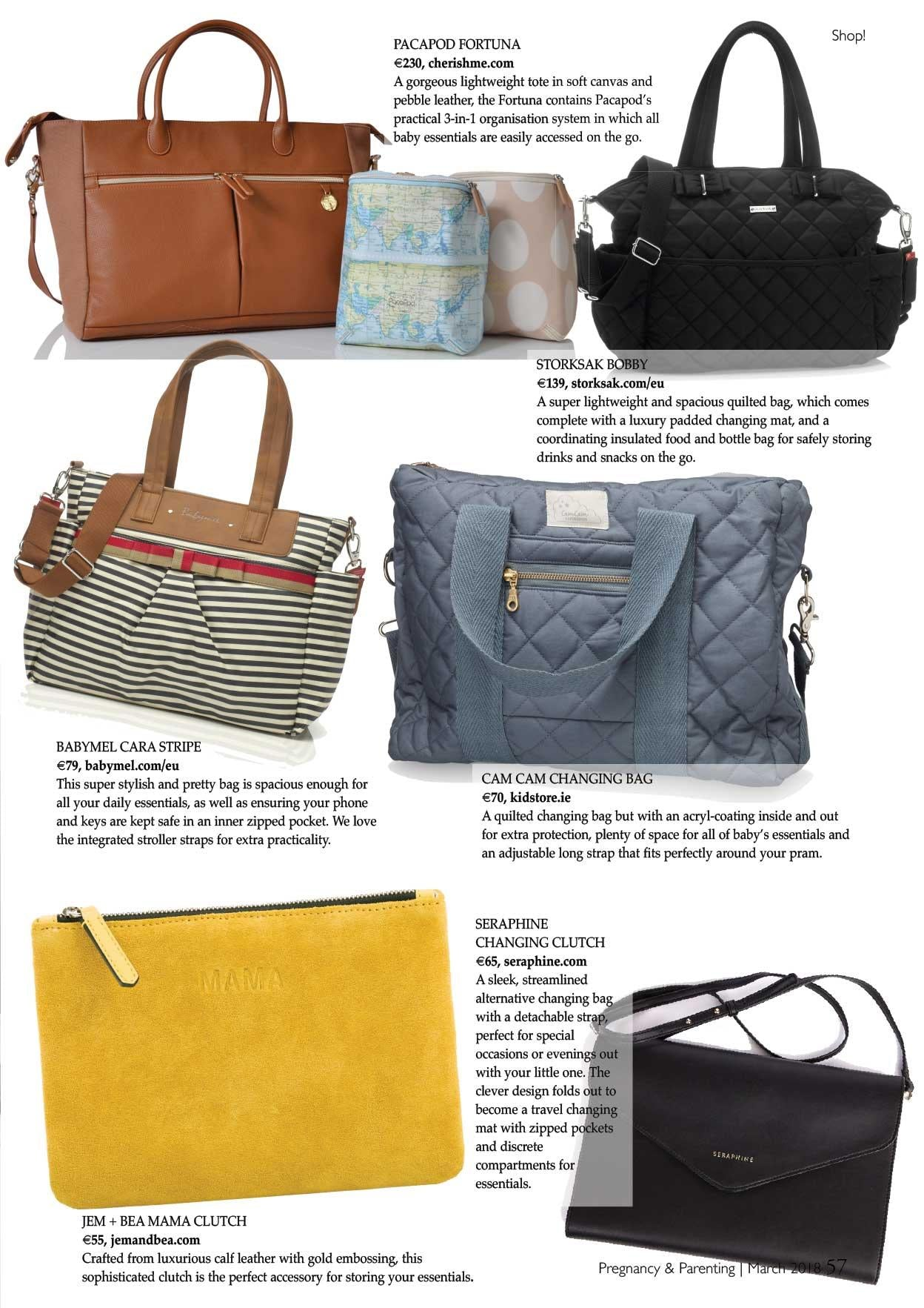 Fortuna Bag features in Pregnancy & Parenting Magazine