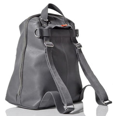 Back & Side View Of Hartland Leather Bag - pewter - PacaPod