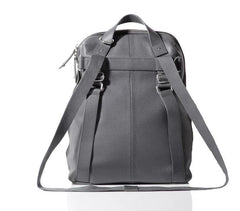 Back View Of Hartland Leather Bag - pewter - PacaPod