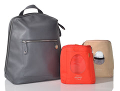 Hartland Leather Baby Changing Bag & Pods - PacaPod