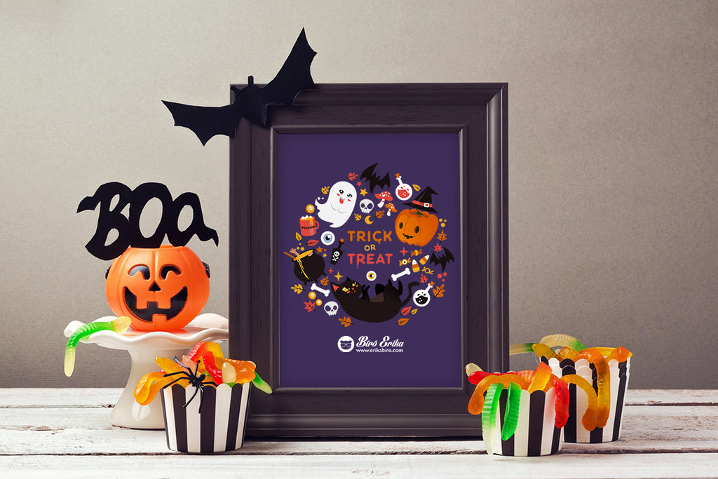 Cute Halloween design by Erika