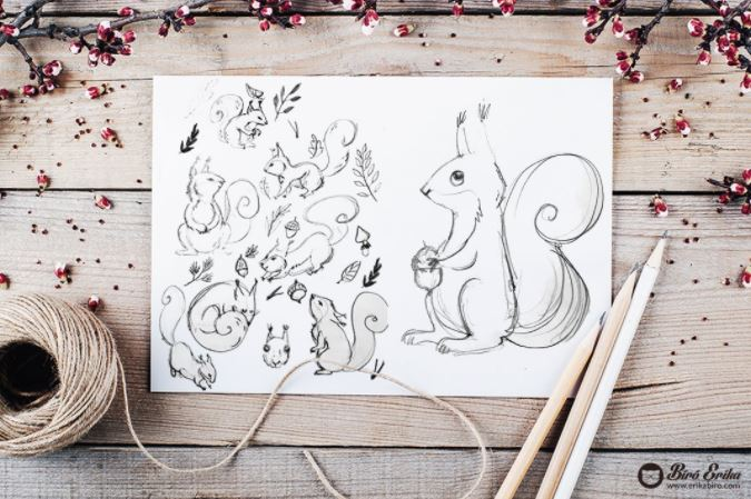 The designing of Squirrel forest!