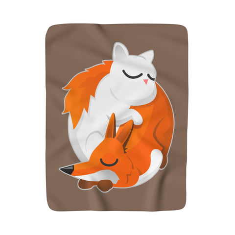 Cat and Fox Blanket