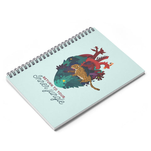 Inner Jungle Spiral Notebook - Ruled Line