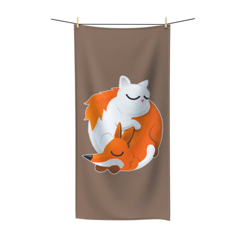 Cat and Fox Beach Towel