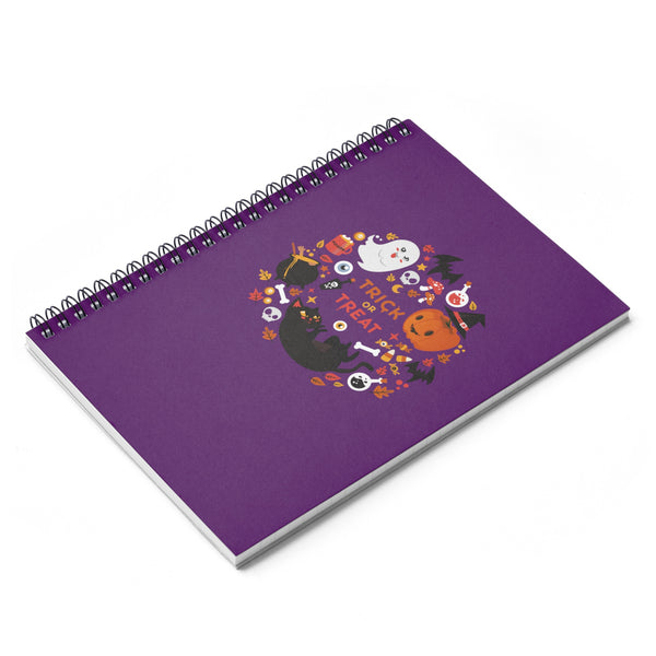 Halloween Fun Spiral Notebook - Ruled Line