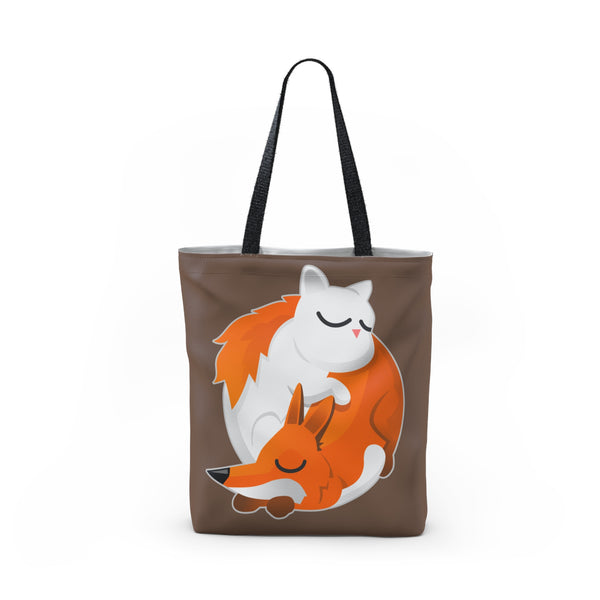 Cat and Fox Tote Bag