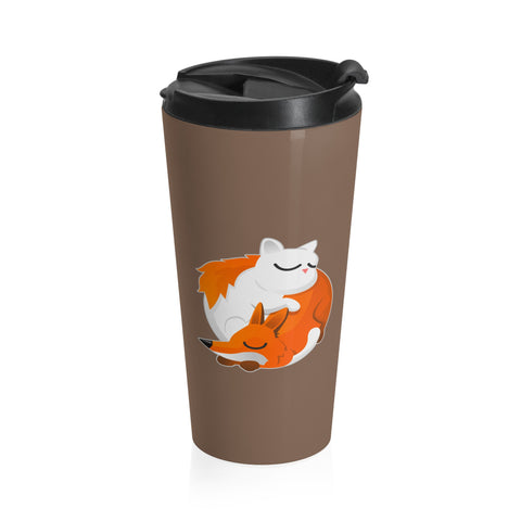Cat and Fox Stainless Steel Travel Mug