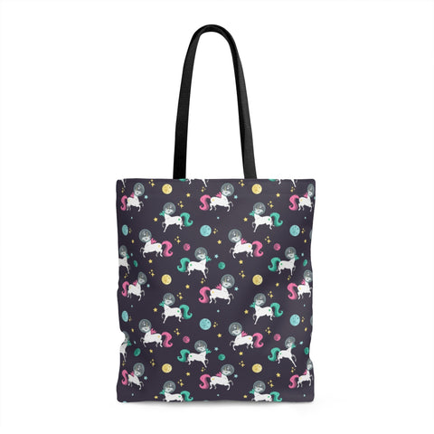 Space Unicorn Pattern Tote Bag