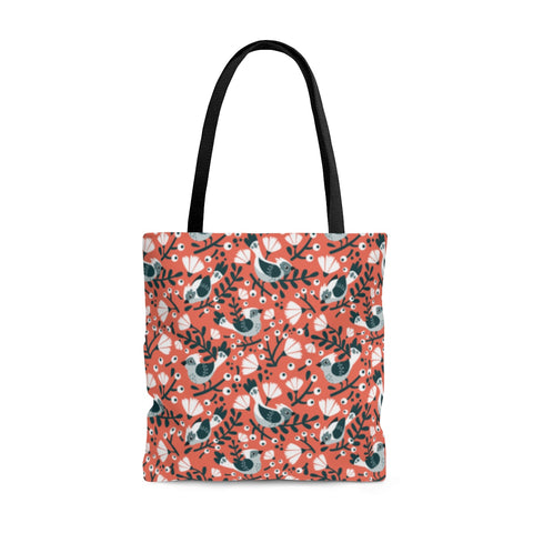 Birds and Blooms Two-Sided Tote Bag