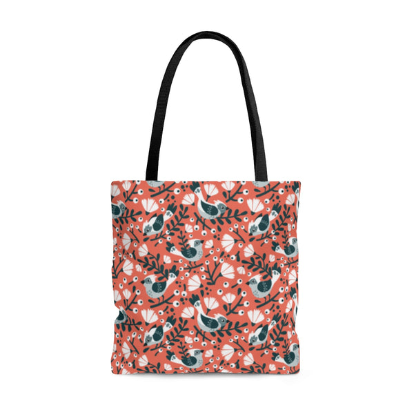 Birds and Blossoms Two-Sided Tote Bag