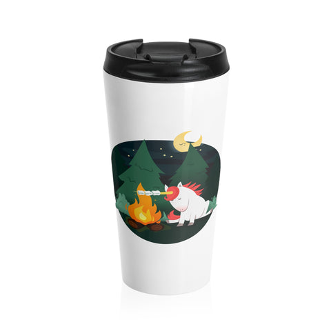 Marshmallow Unicorn Stainless Steel Travel Mug