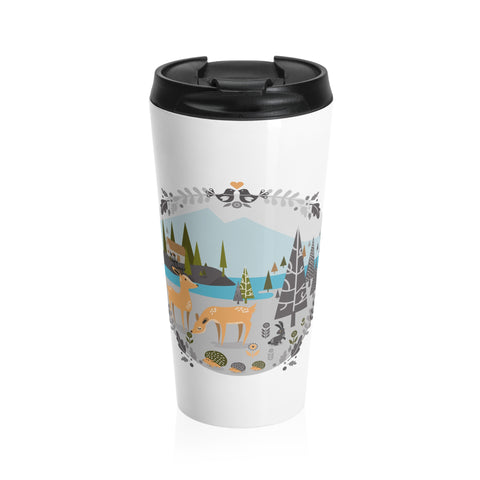 Nordic forest Stainless Steel Travel Mug