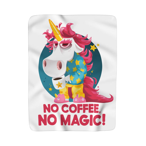 Morning Coffee Unicorn Blanket