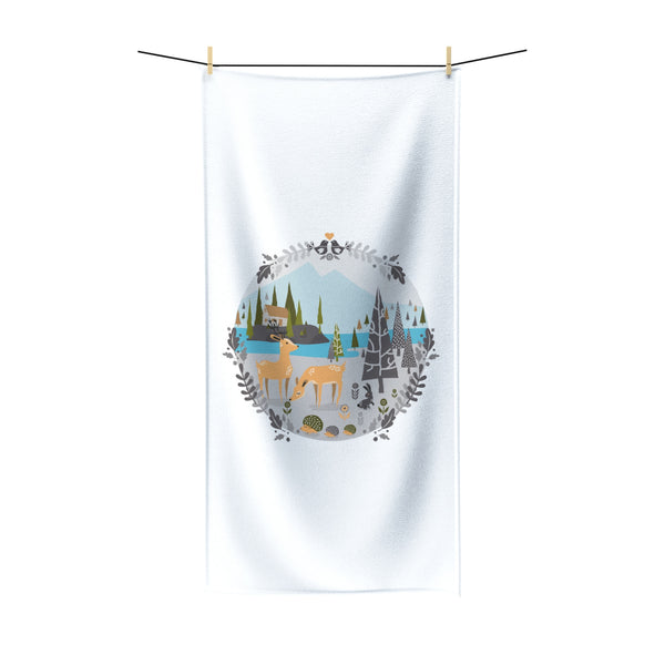 Nordic forest Beach towel