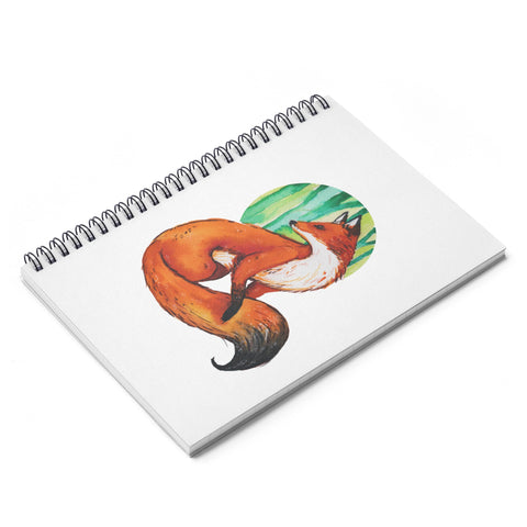 Watercolor Fox Spiral Notebook - Ruled Line