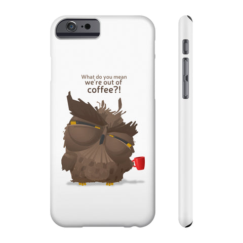 Grumpy coffee owl  Phone cases
