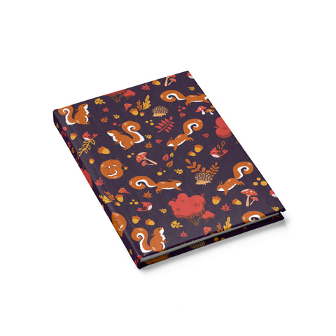 Squirrel forest pattern Journal - Blank