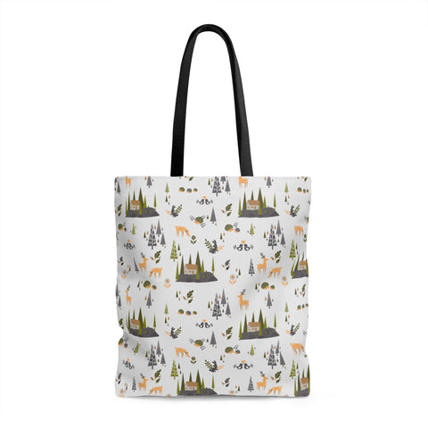 Nordic Forest Pattern Tote Bag