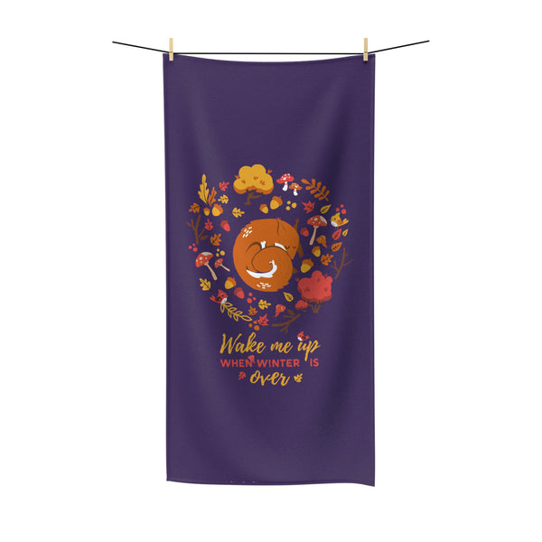 Squirrel forest Beach Towel