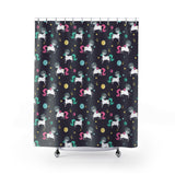 Space Unicorn Pattern Shower Curtains