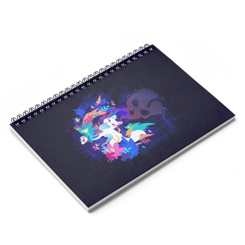 Fox of the Dream Forest Spiral Notebook - Ruled Line