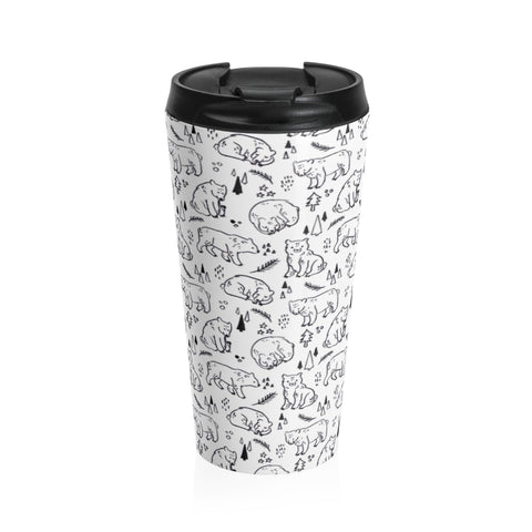 Inky Bears Stainless Steel Travel Mug
