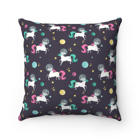 Space Unicorn Pattern Square Pillow Case
