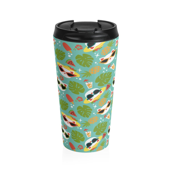 Summer Cat Stainless Steel Travel Mug