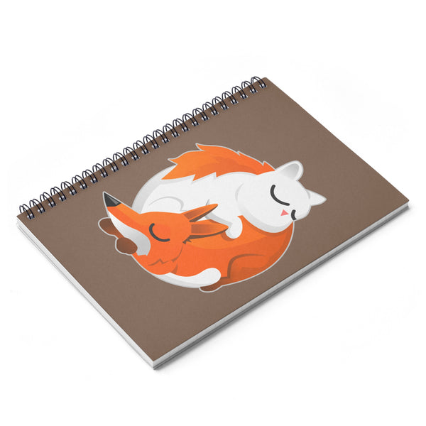 Cat and Fox Spiral Notebook - Ruled Line