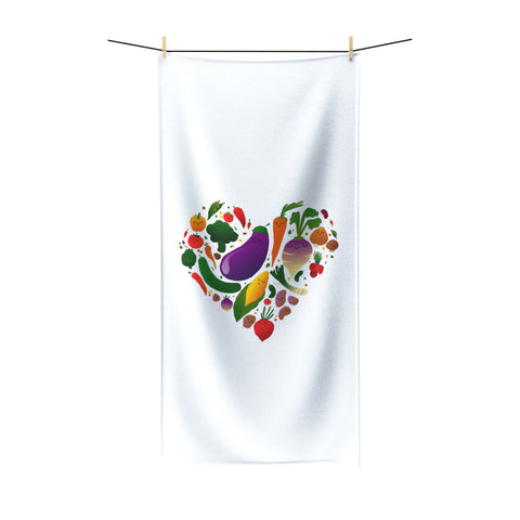 Vegan Love Beach Towel