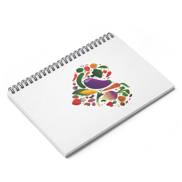 Vegan Love Spiral Notebook - Ruled Line