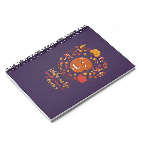 Squirrel forest Spiral Notebook - Ruled Line