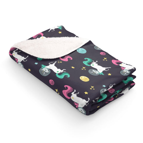 Space Unicorn Pattern  Blanket