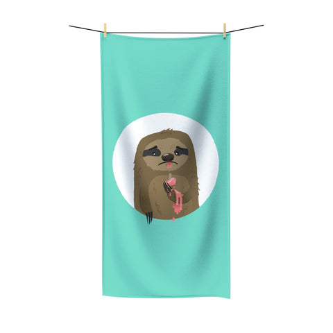 Cruel sloth summer Beach Towel