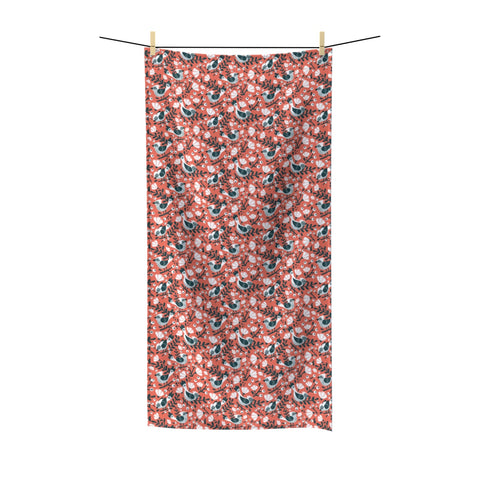 Birds and Blossoms Beach Towel