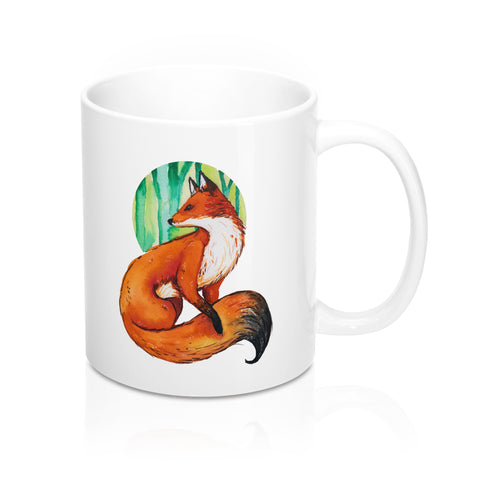 Watercolor Fox Mug 11oz
