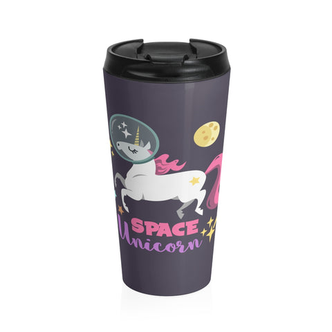 Space Unicorn Stainless Steel Travel Mug