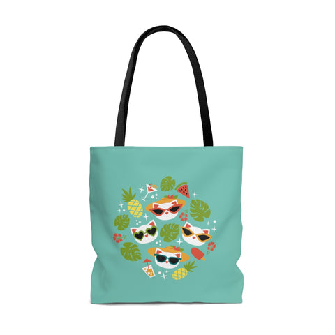 Summer Cat Tote Bag - Two sided