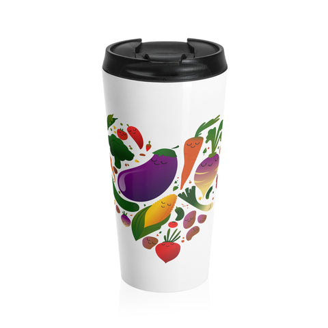 Vegan Love Stainless Steel Travel Mug
