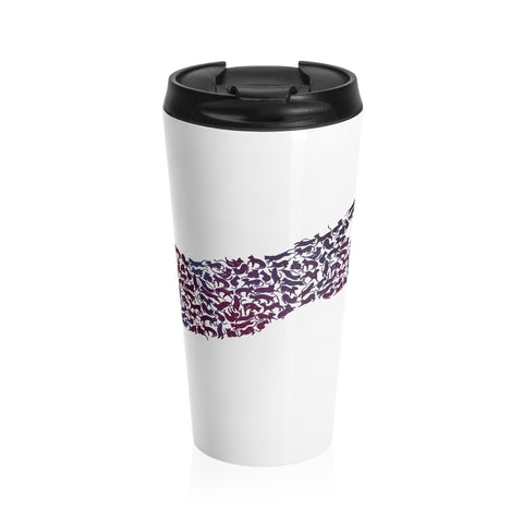 Galaxy Cat Stainless Steel Travel Mug