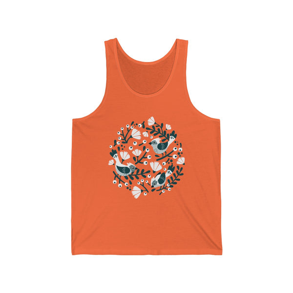 Birds and Blossoms Unisex Jersey Tank