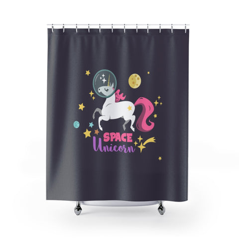 Space Unicorn Shower Curtains