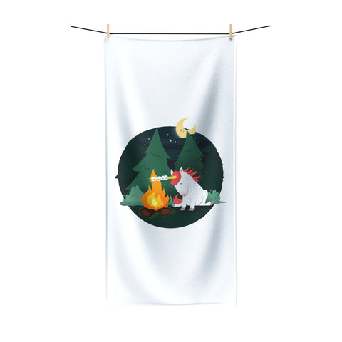 Marshmallow Unicorn  Beach Towel