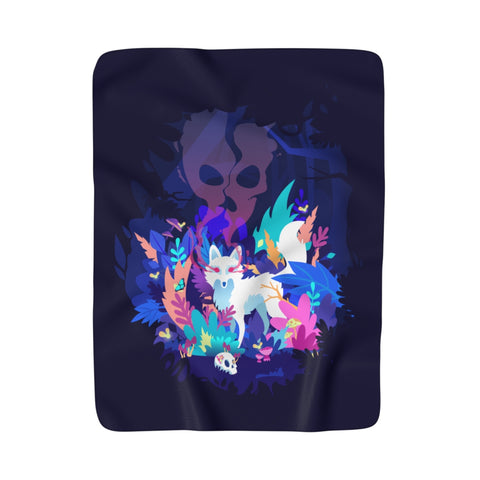 Fox of the Dream Forest Fleece Blanket