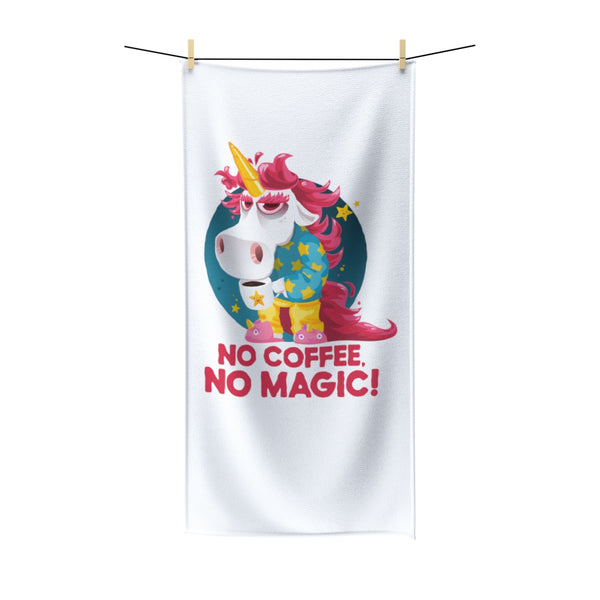Morning Coffee Unicorn Beach Towel