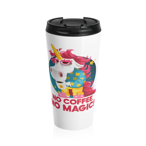 Morning Coffee Unicorn Stainless Steel Travel Mug