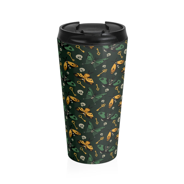 Moth and Key Stainless Steel Travel Mug